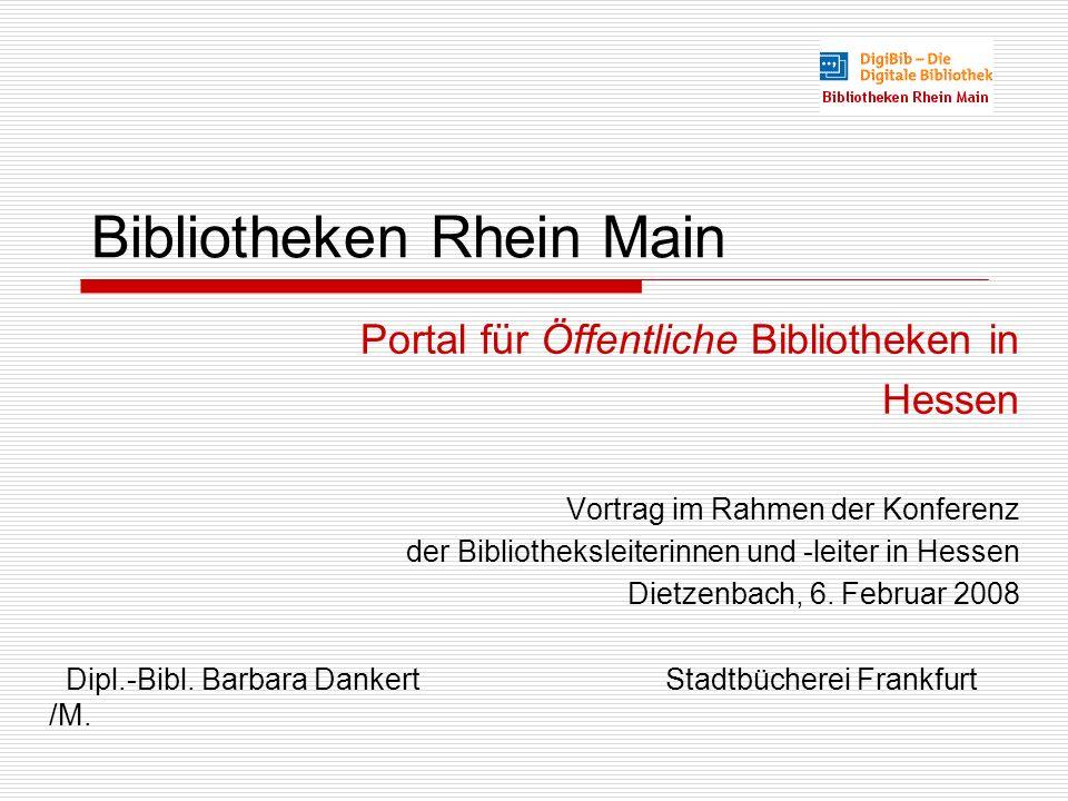 Bibliotheken Rhein Main