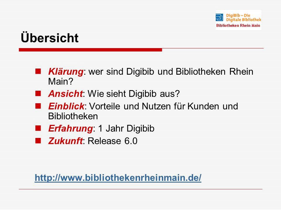 Übersicht Klärung: wer sind Digibib und Bibliotheken Rhein Main