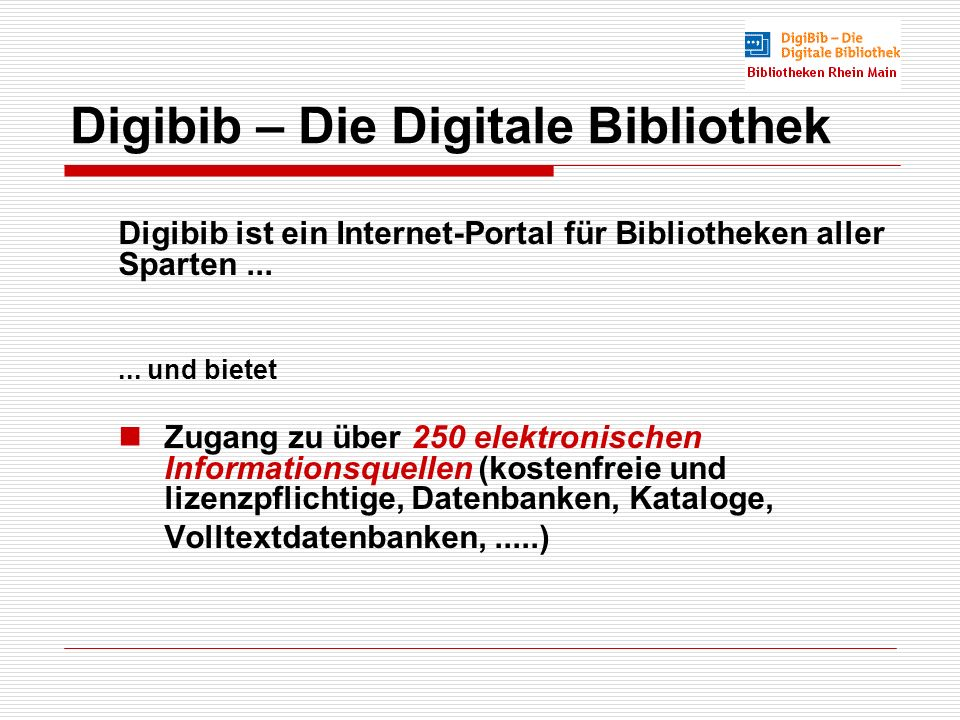 Digibib – Die Digitale Bibliothek