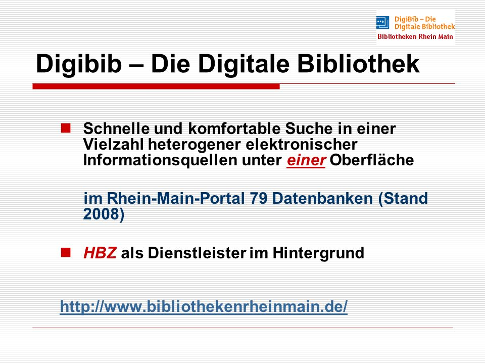 Digibib – Die Digitale Bibliothek