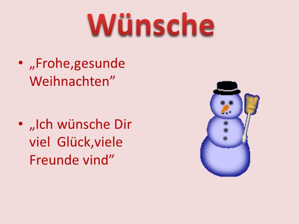 """Wünsche """"Frohe,gesunde Weihnachten"""