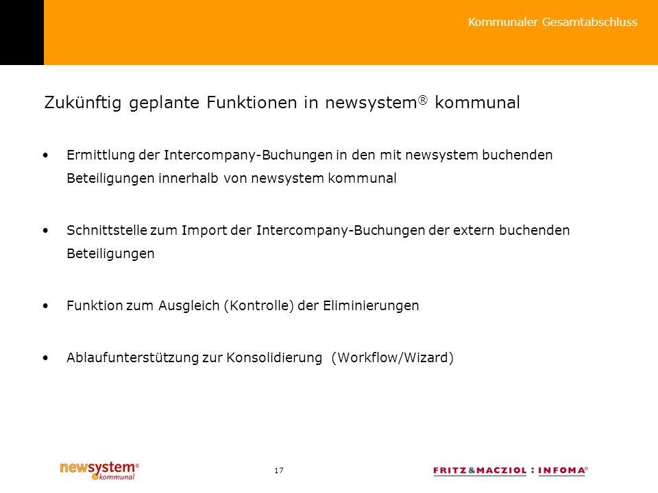 Zukünftig geplante Funktionen in newsystem® kommunal
