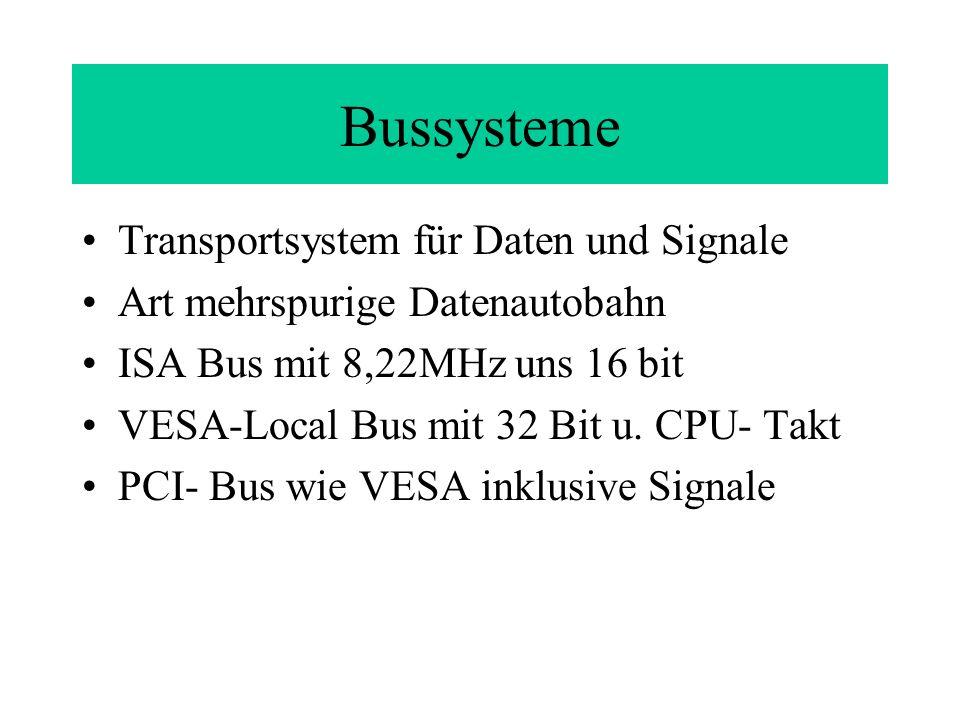 Bussysteme Transportsystem für Daten und Signale