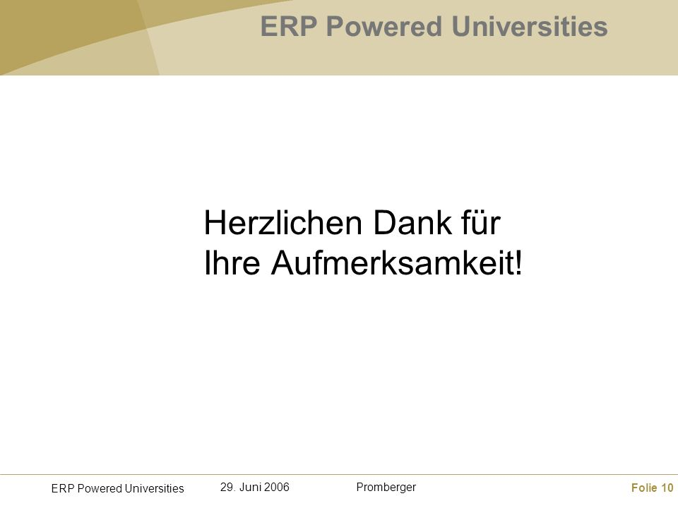 ERP Powered Universities