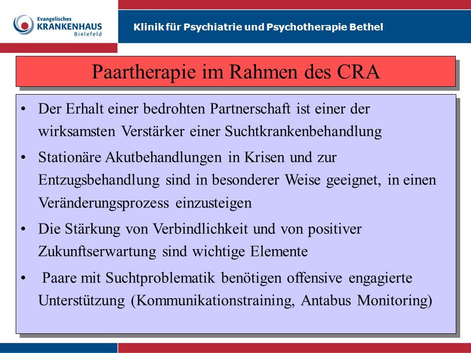 Paartherapie im Rahmen des CRA