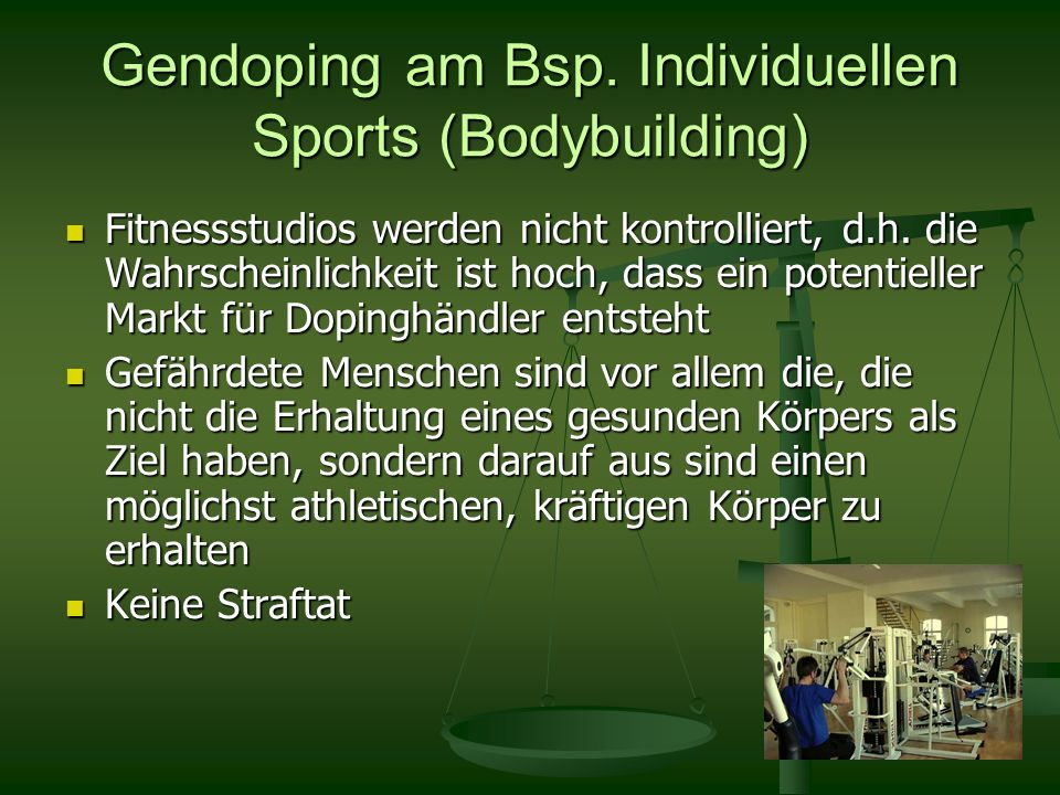 Gendoping am Bsp. Individuellen Sports (Bodybuilding)