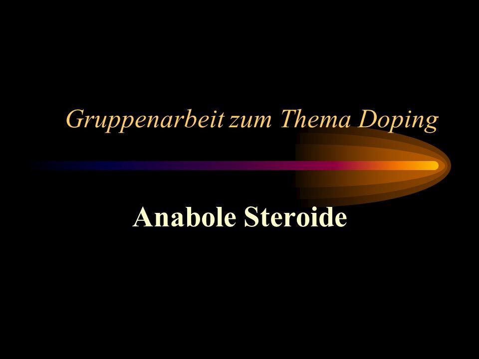Gruppenarbeit zum Thema Doping