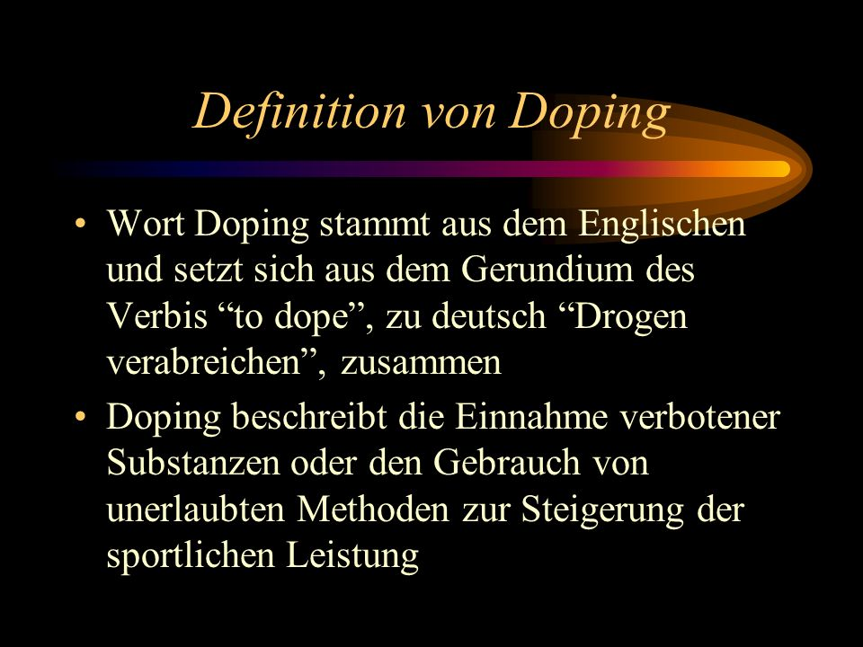 Definition von Doping