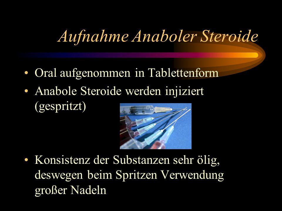 Aufnahme Anaboler Steroide