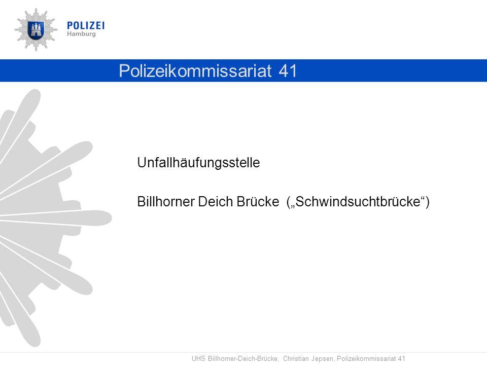 Polizeikommissariat 41 Unfallhäufungsstelle