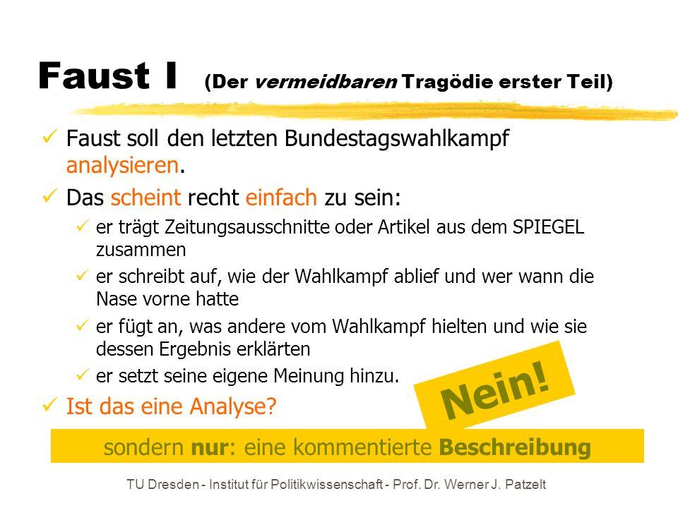 Faust I (Der vermeidbaren Tragödie erster Teil)