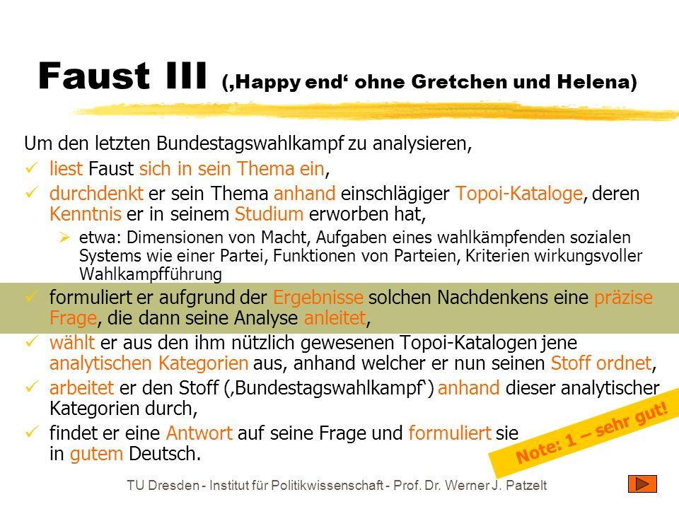 Faust III ('Happy end' ohne Gretchen und Helena)