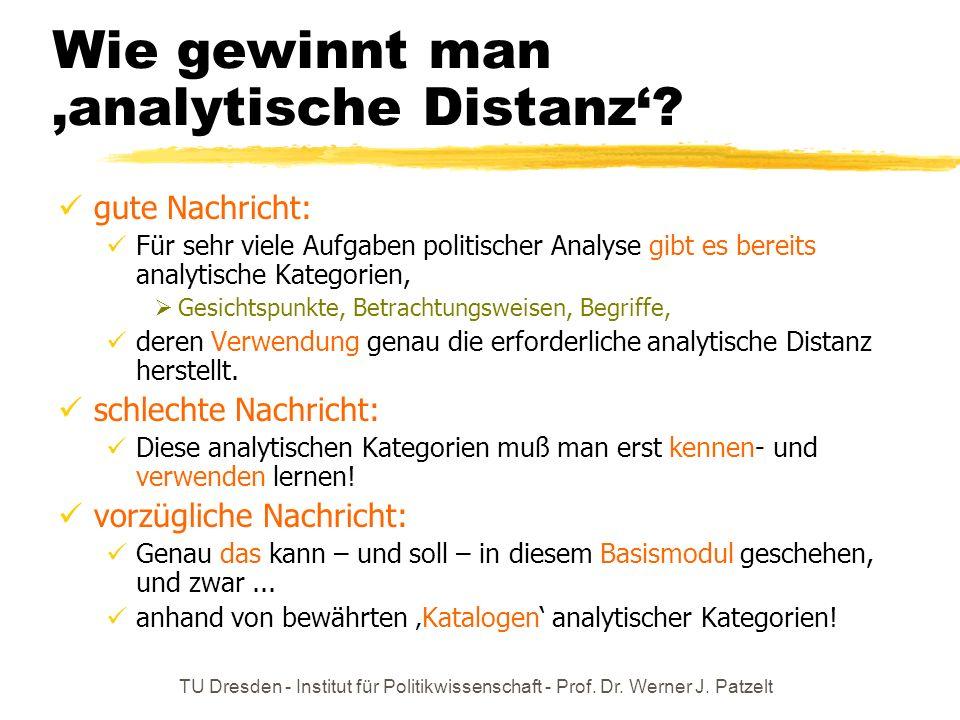 Wie gewinnt man 'analytische Distanz'