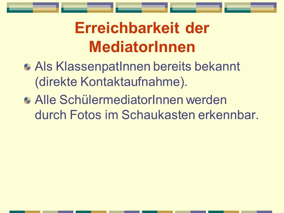 Erreichbarkeit der MediatorInnen