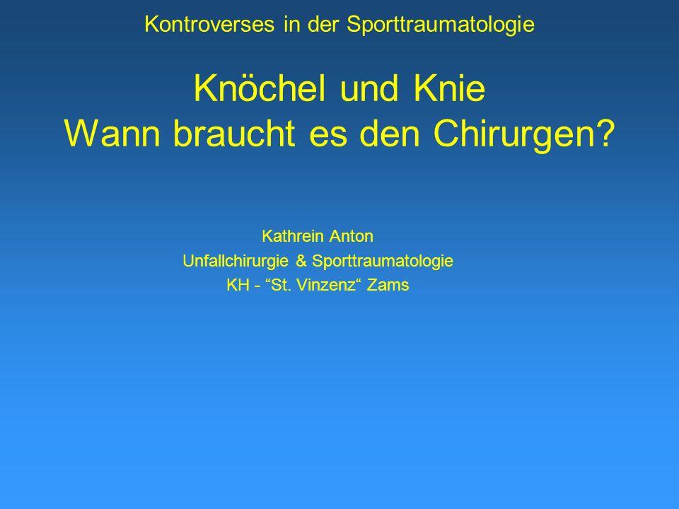 Unfallchirurgie & Sporttraumatologie