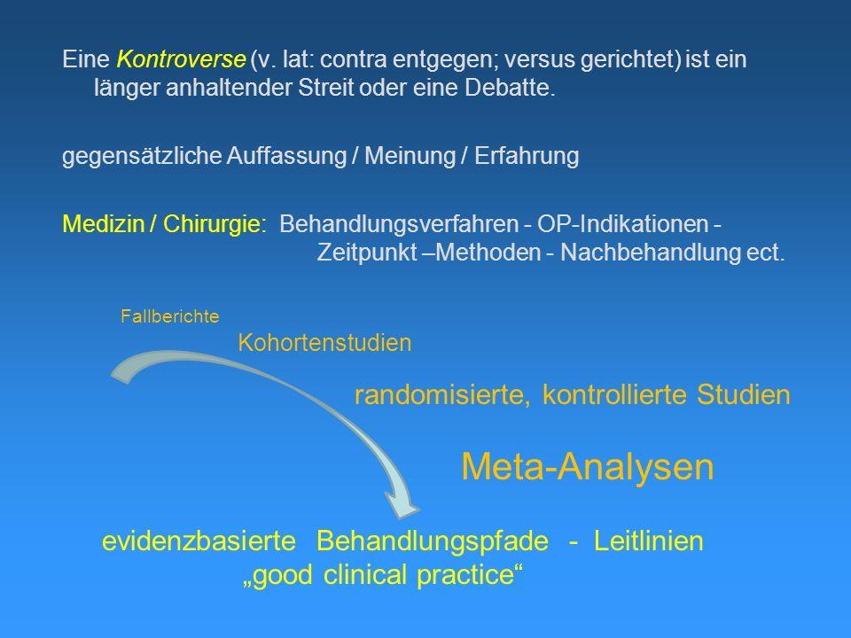Meta-Analysen randomisierte, kontrollierte Studien