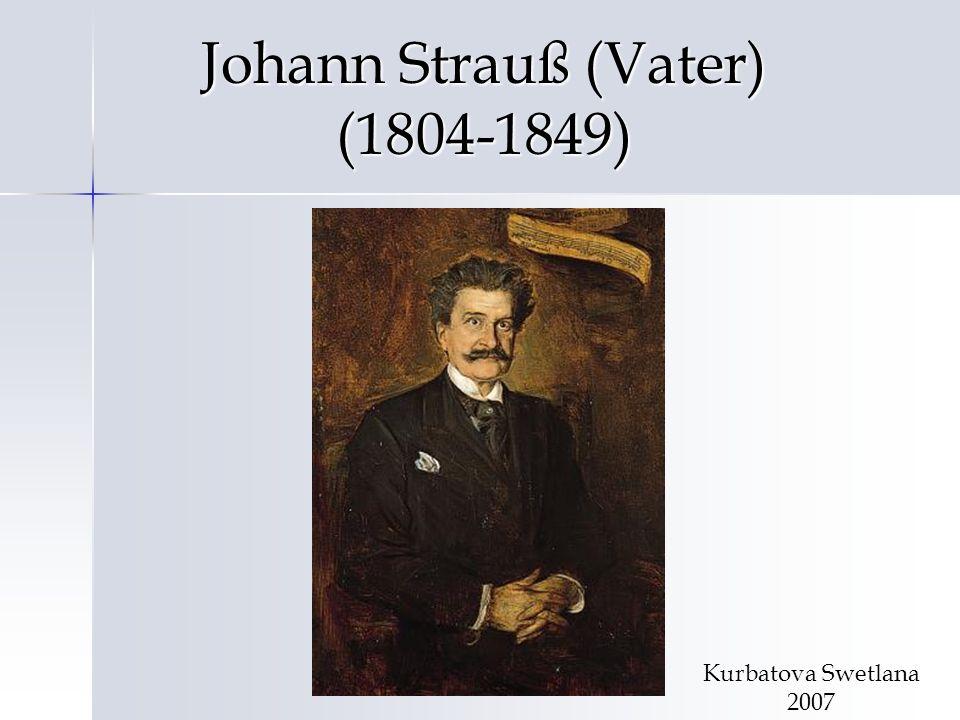 Johann Strauß (Vater) (1804-1849)