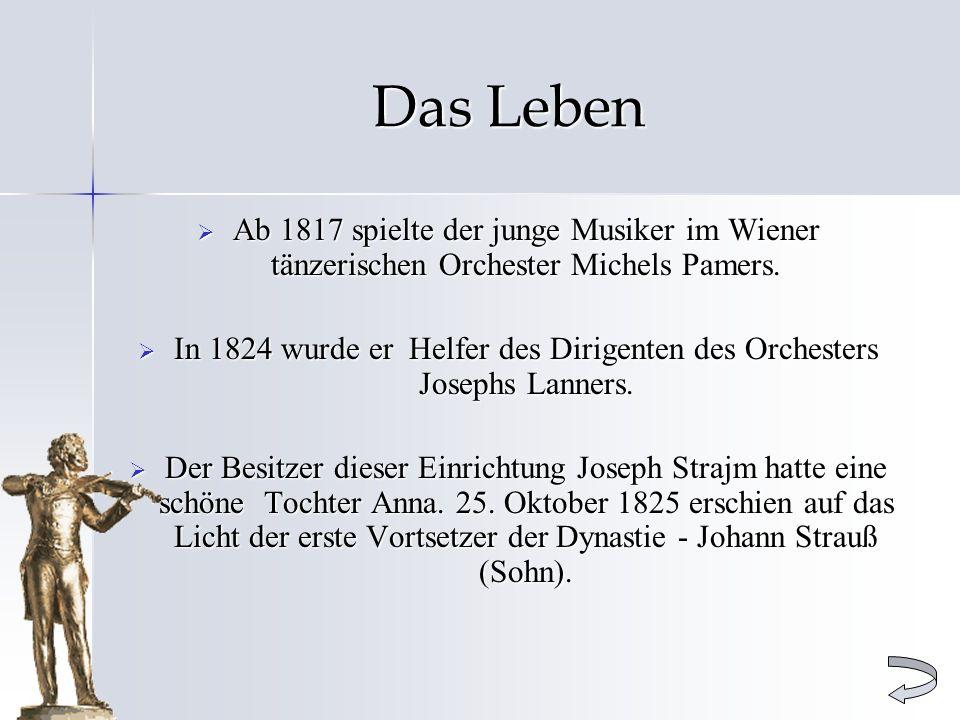In 1824 wurde er Helfer des Dirigenten des Orchesters Josephs Lanners.