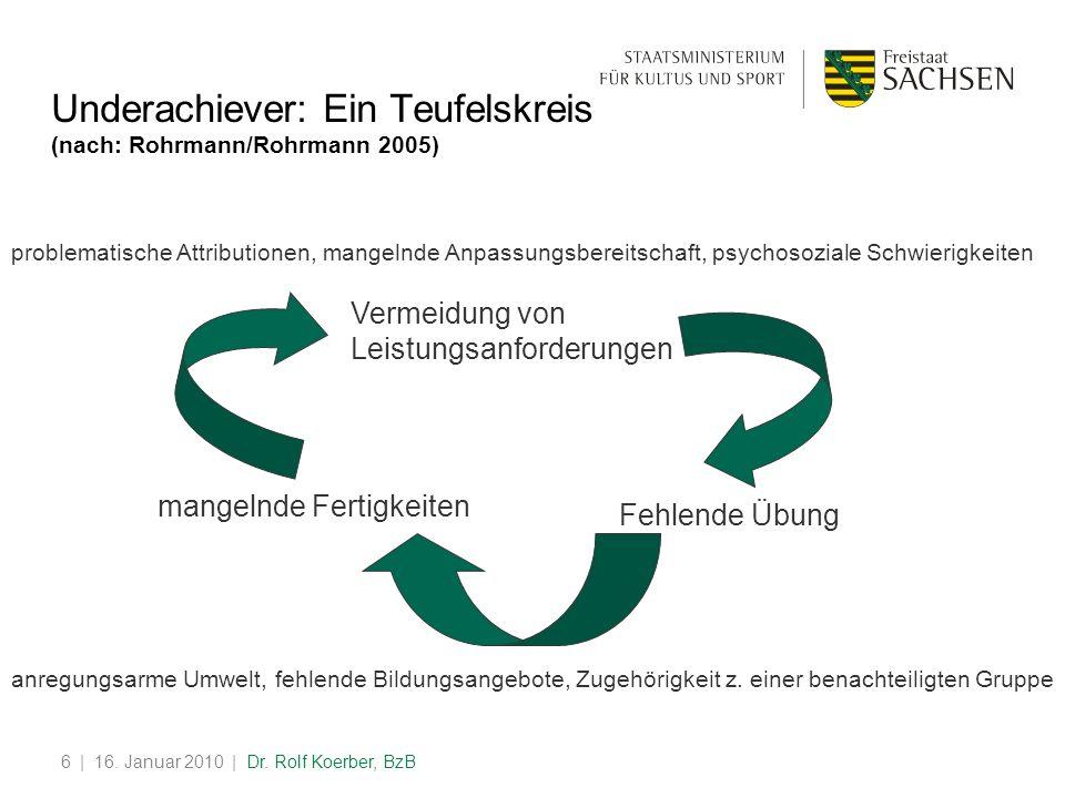 Underachiever: Ein Teufelskreis (nach: Rohrmann/Rohrmann 2005)