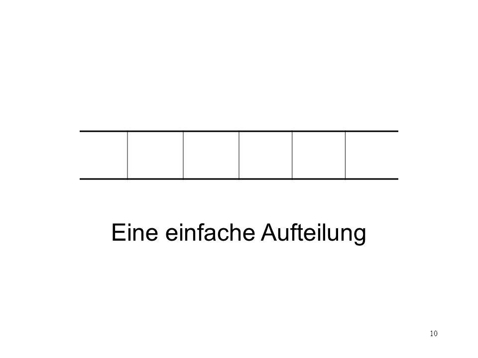 Eine einfache Aufteilung