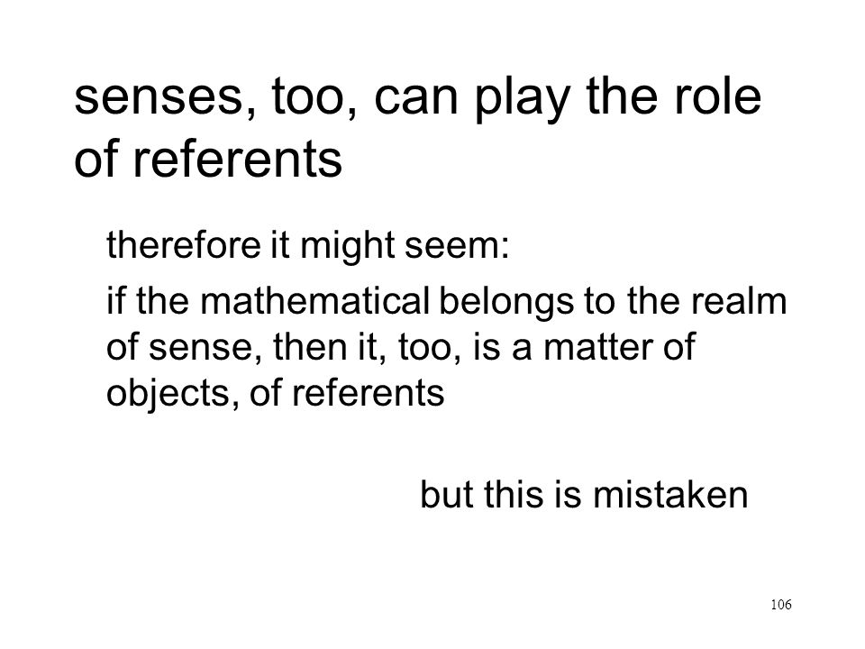 senses, too, can play the role of referents