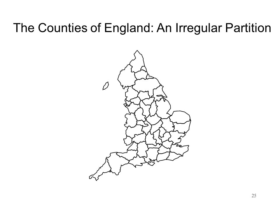 The Counties of England: An Irregular Partition