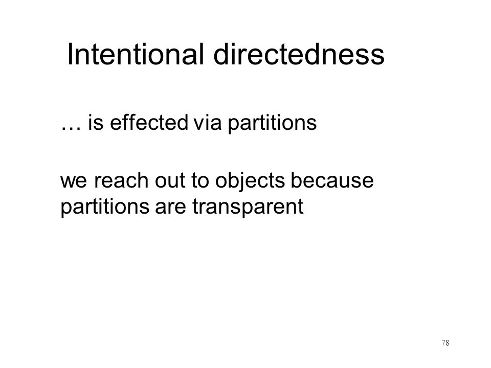 Intentional directedness