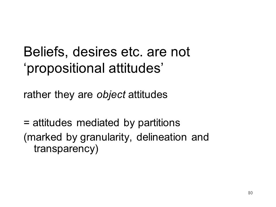 Beliefs, desires etc. are not 'propositional attitudes'