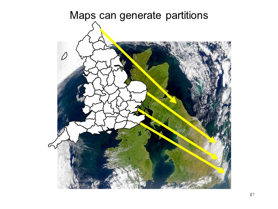 Maps can generate partitions