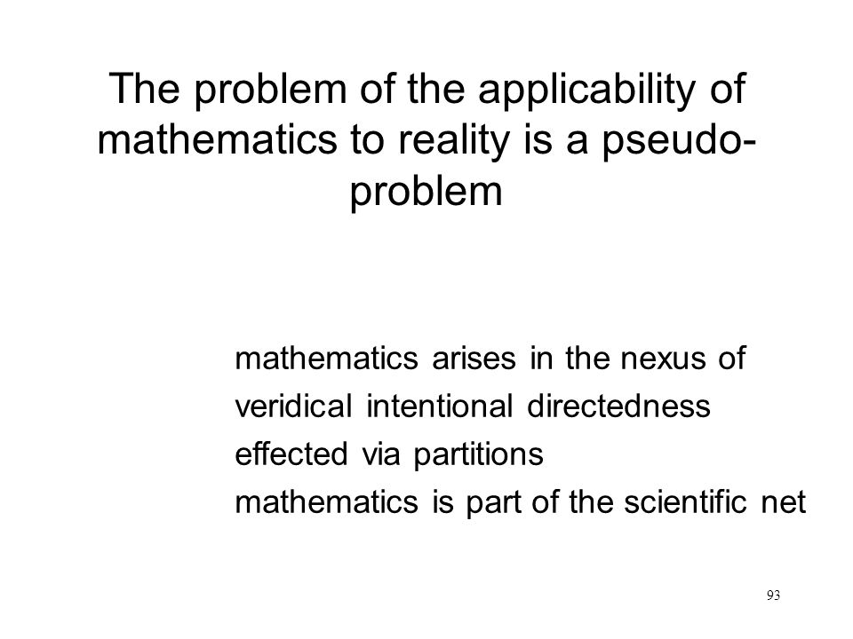 The problem of the applicability of mathematics to reality is a pseudo-problem