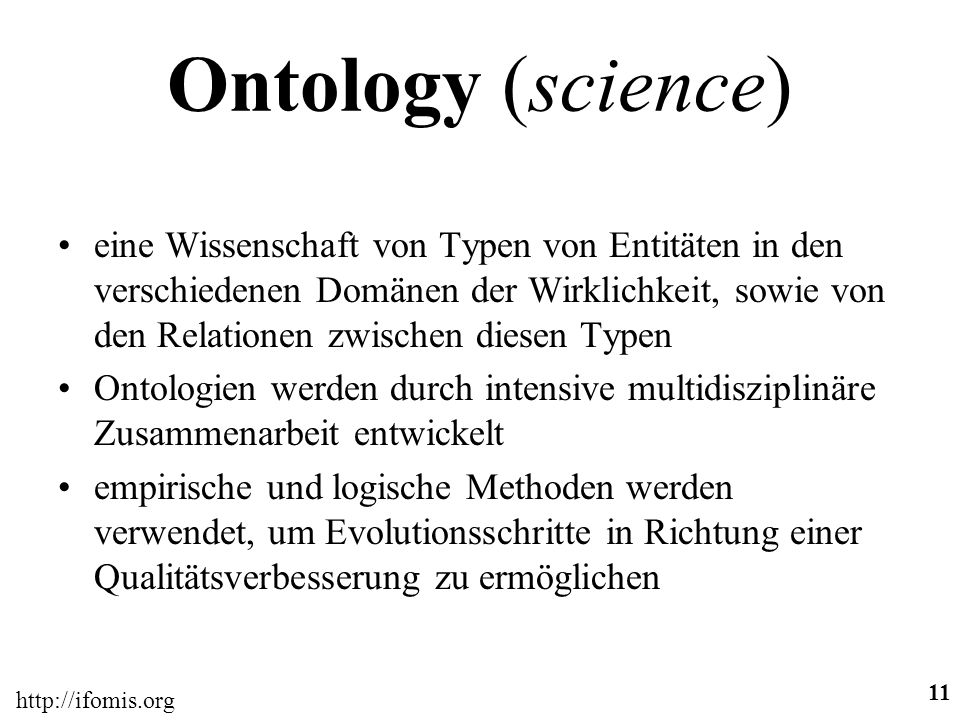 Ontology (science)