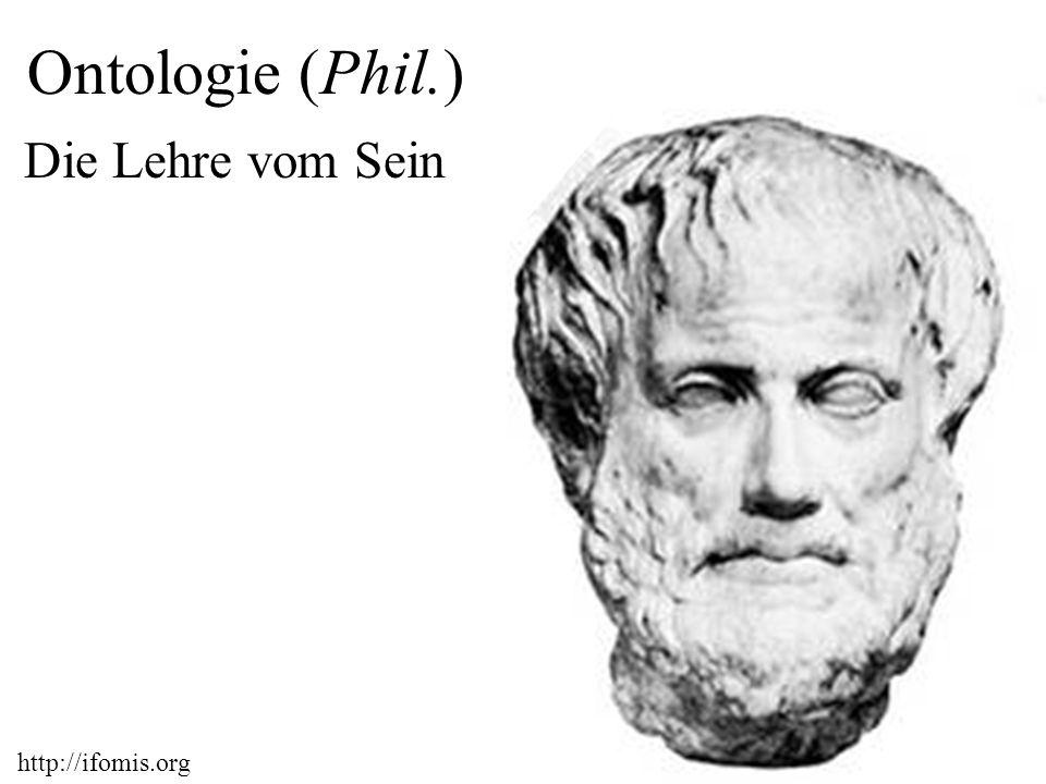 Ontologie (Phil.) Die Lehre vom Sein http://ifomis.org