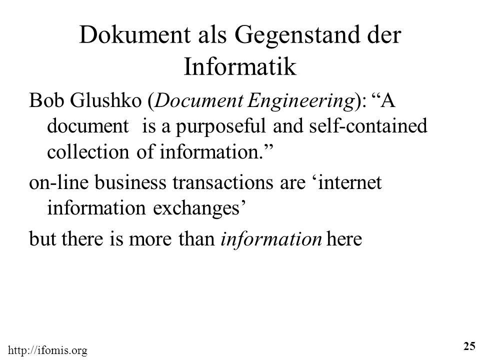 Dokument als Gegenstand der Informatik