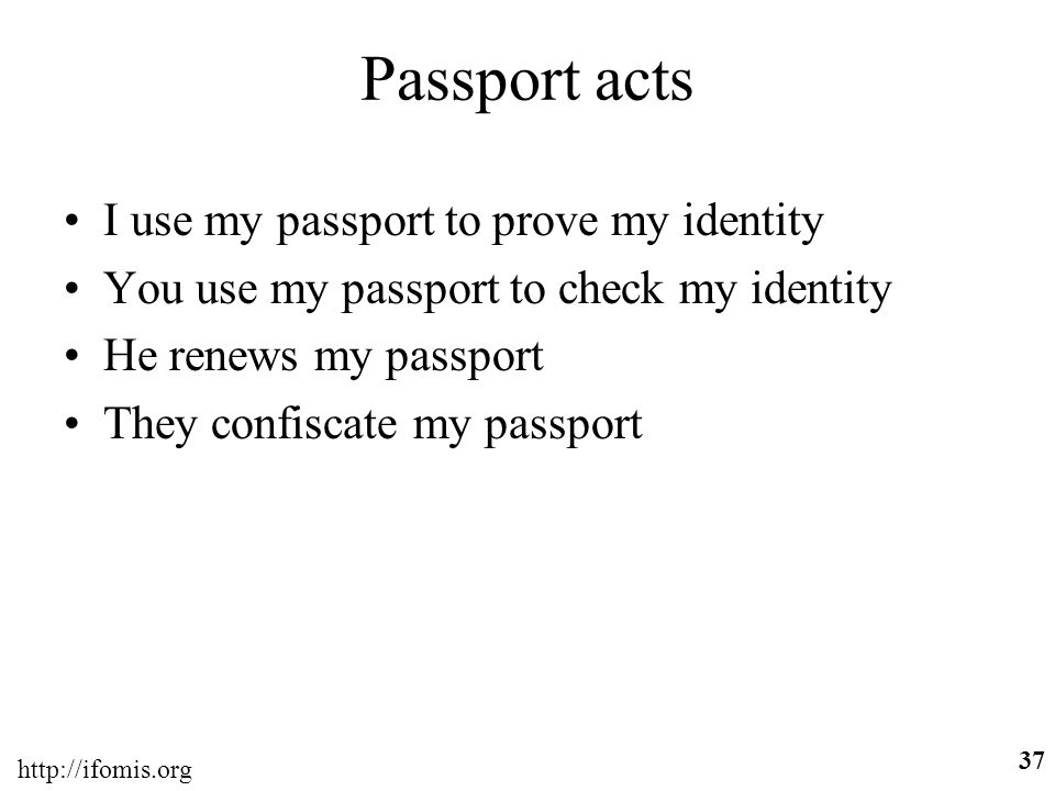Passport acts I use my passport to prove my identity
