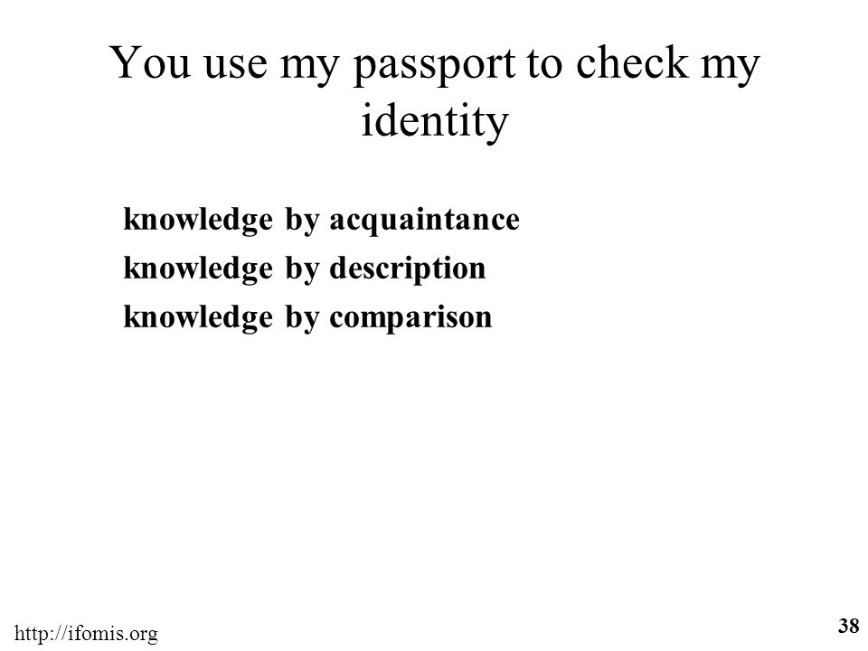 You use my passport to check my identity