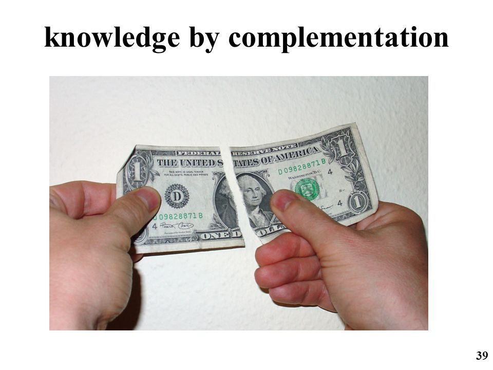 knowledge by complementation
