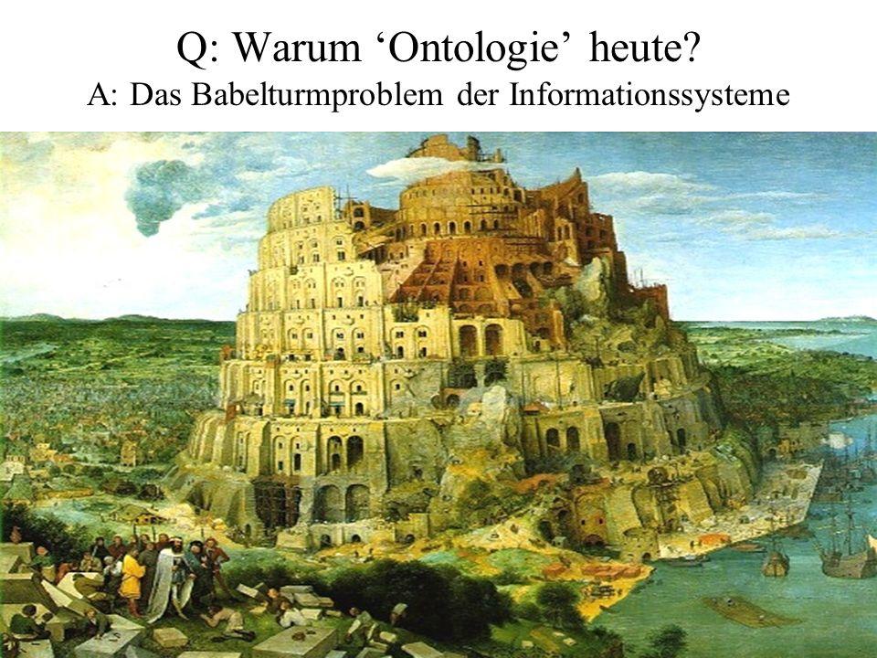 Q: Warum 'Ontologie' heute