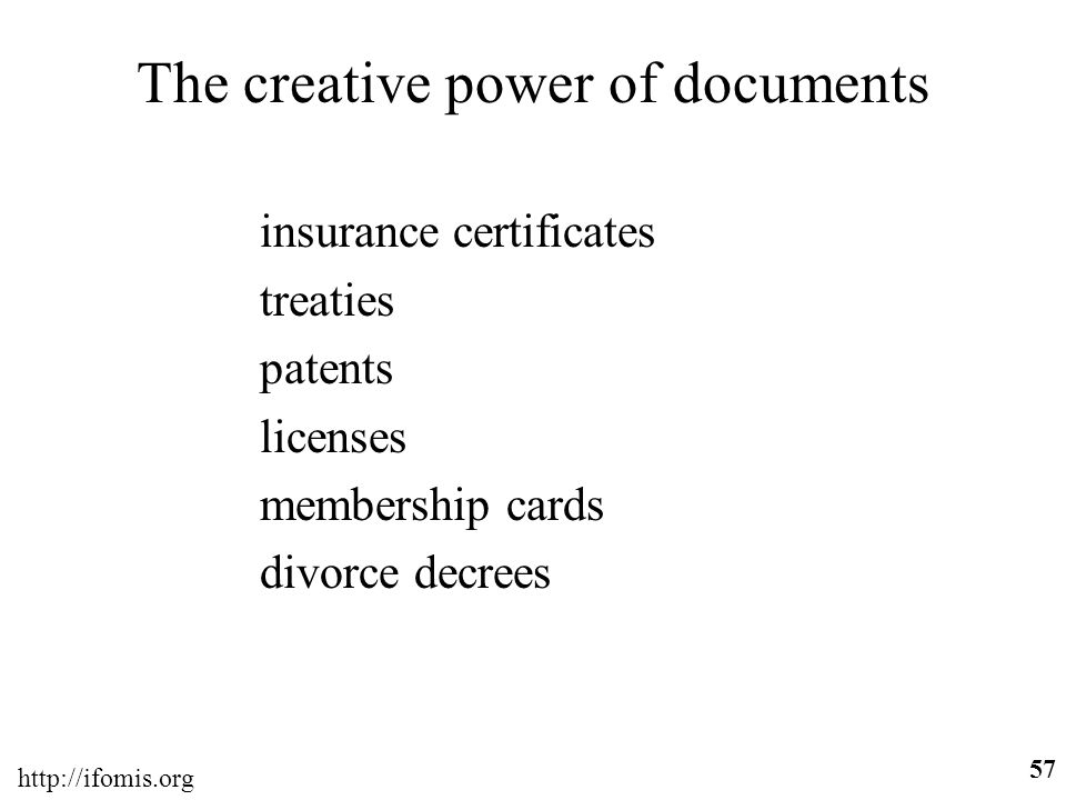 The creative power of documents