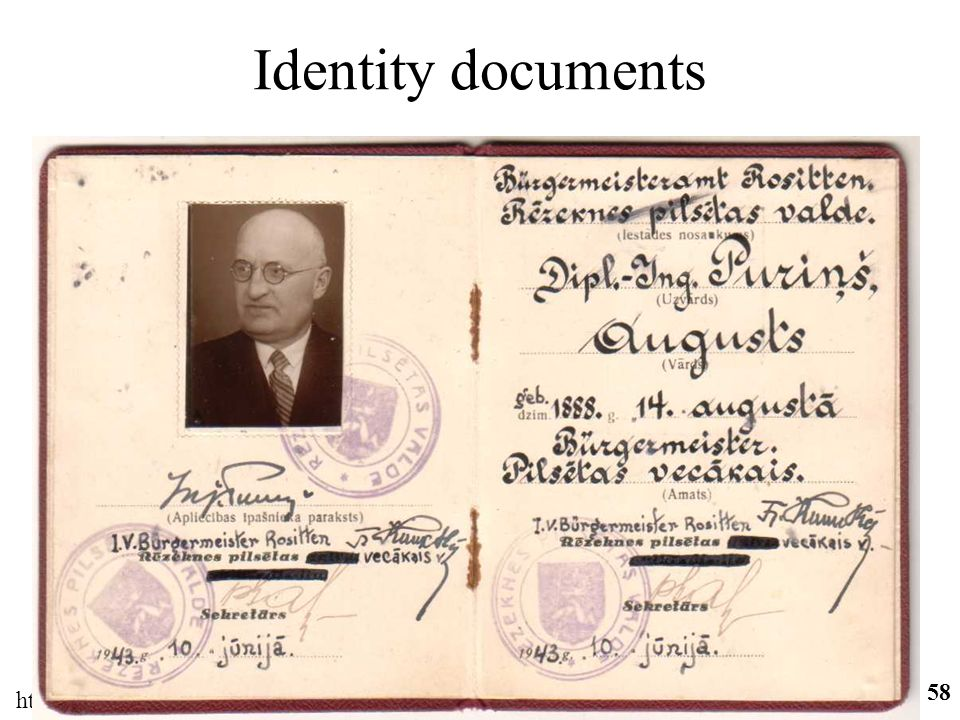 Identity documents http://ifomis.org