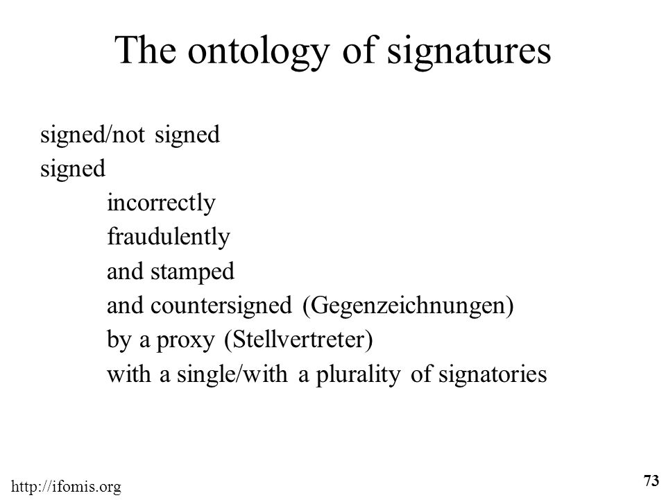 The ontology of signatures