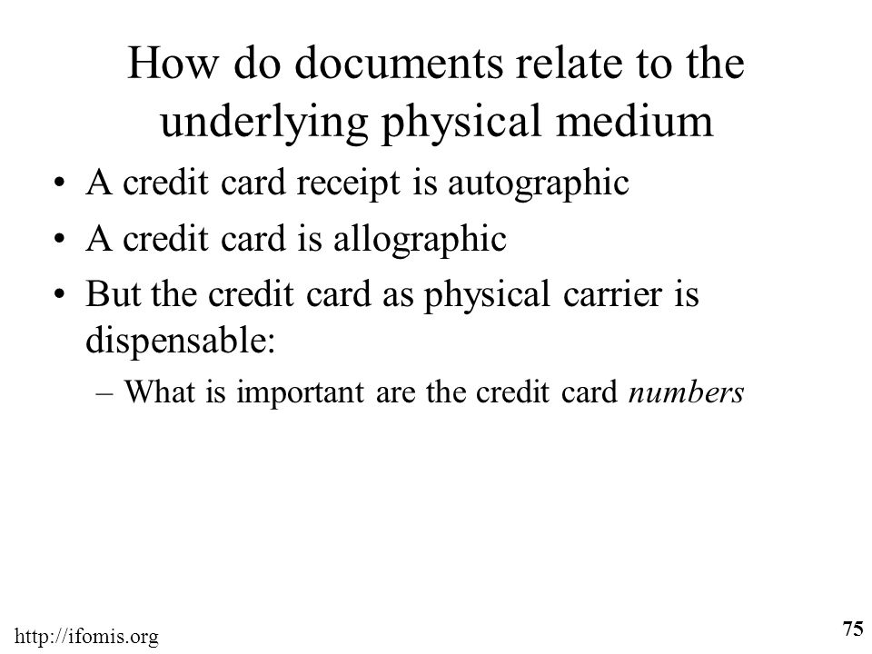 How do documents relate to the underlying physical medium
