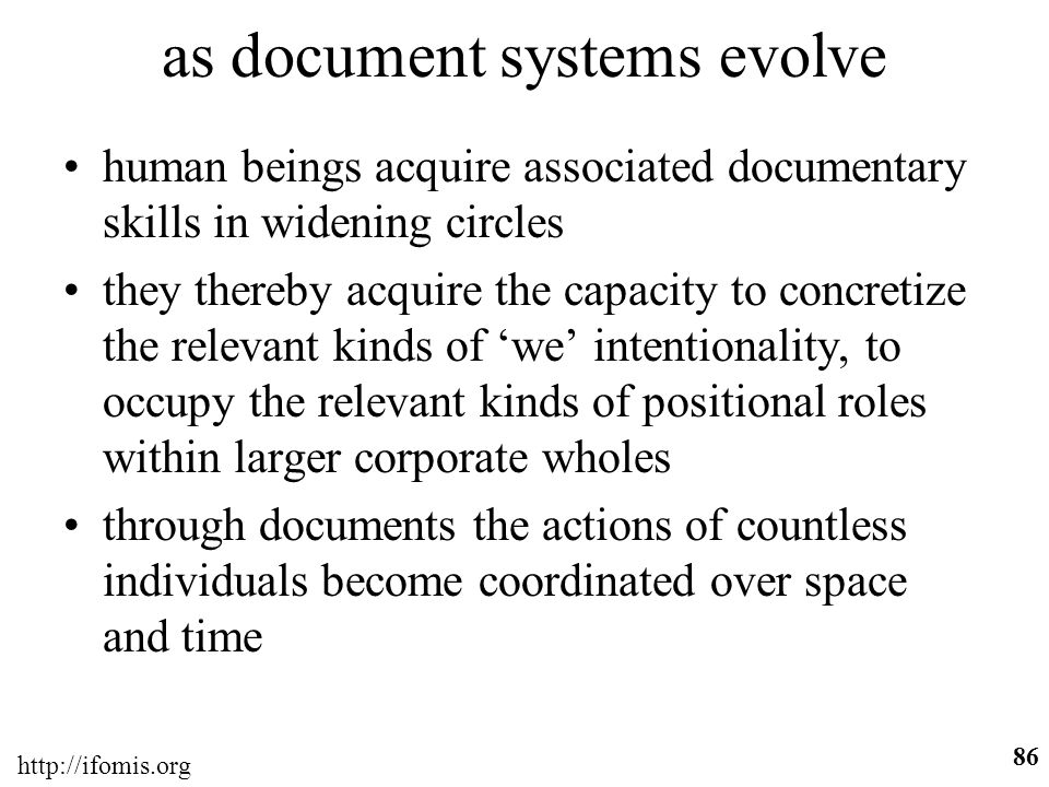 as document systems evolve