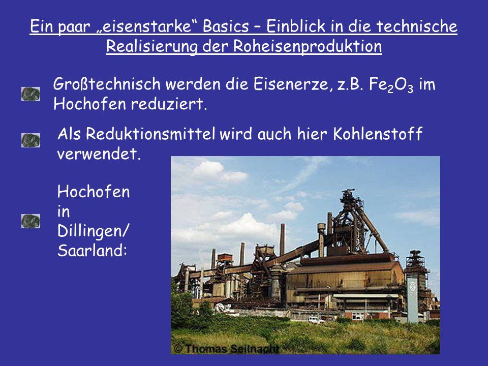 """Ein paar """"eisenstarke Basics – Einblick in die technische Realisierung der Roheisenproduktion"""