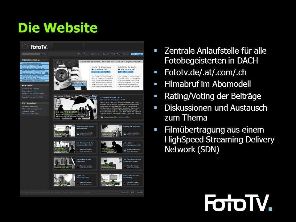 Die Website Zentrale Anlaufstelle für alle Fotobegeisterten in DACH