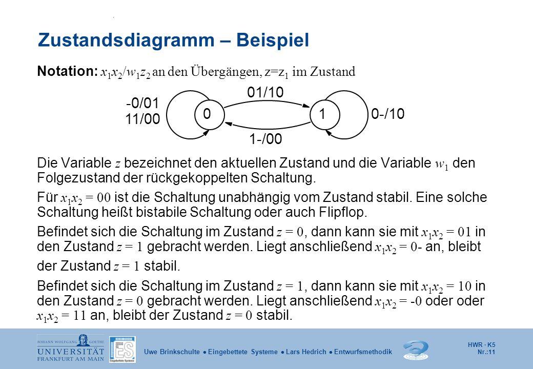 Zustandsdiagramm – Beispiel