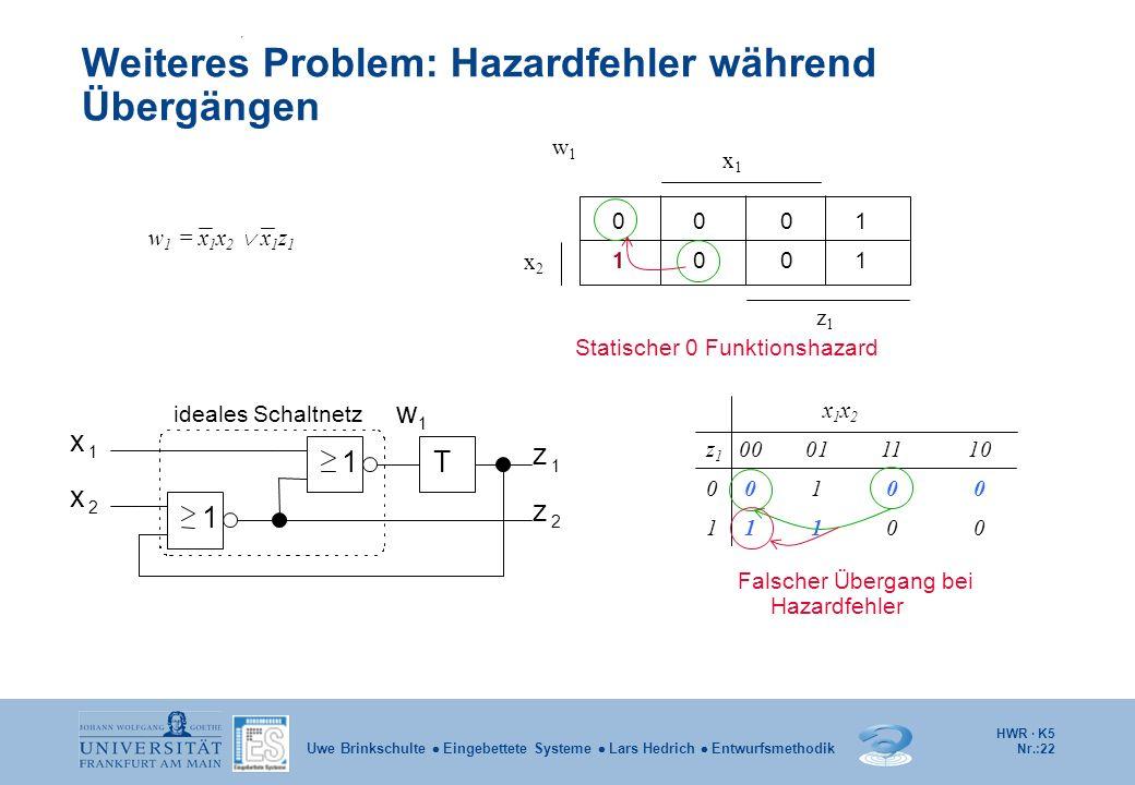 Weiteres Problem: Hazardfehler während Übergängen