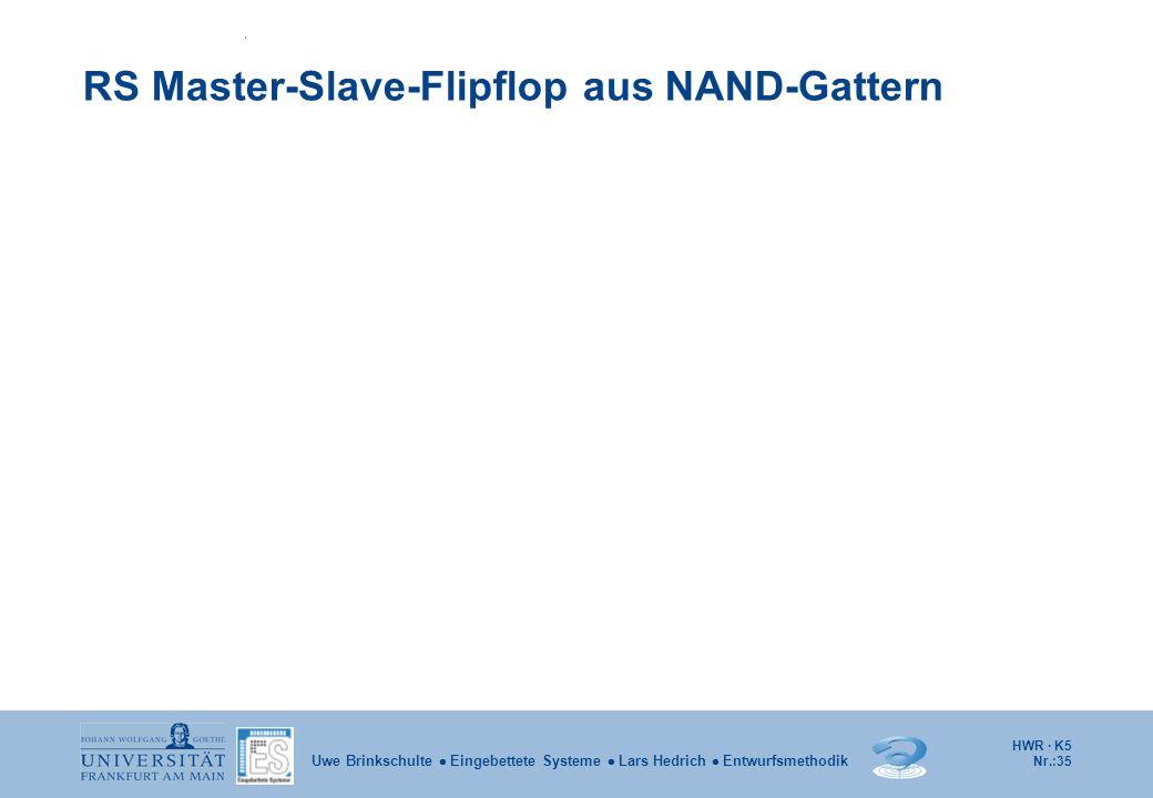RS Master-Slave-Flipflop aus NAND-Gattern