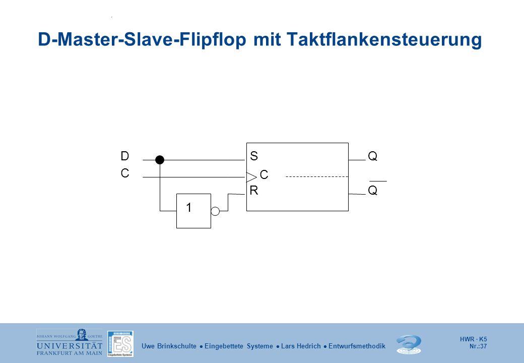 D-Master-Slave-Flipflop mit Taktflankensteuerung
