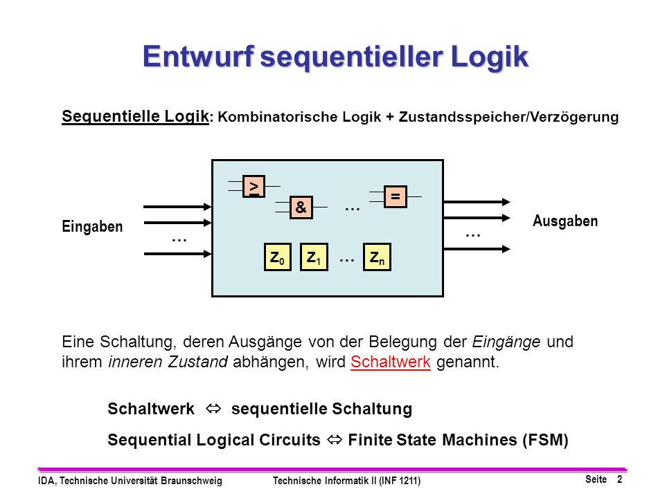 Entwurf sequentieller Logik