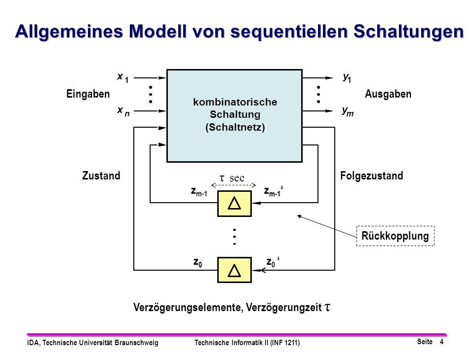 Allgemeines Modell von sequentiellen Schaltungen